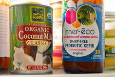 Mix coconut milk & keifer & let it ferment in oven. Voila coconut milk yogurt!