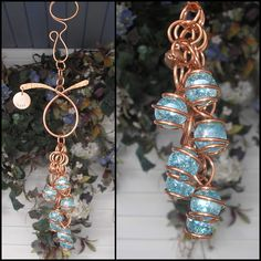 Wind Chimes Handmade Glass & Copper Perfect for Home or Garden Decor - Gift Fused Glass Art, Stained Glass Art, Personalized Wind Chimes, Personalised Gifts Home, Dragonfly Decor, Copper Art, Fence Art, Memorial Gifts, Garden Art