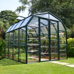 Playhouse for my husband. Rion Greenhouses Grand Gardener 2 Clear H x W x D Polycarbonate 4 mm Greenhouse Serre Polycarbonate, Polycarbonate Roof Panels, Polycarbonate Greenhouse, Aluminium Roof, Hydroponic Gardening, Organic Gardening, Gardening Tips, Urban Gardening, Container Gardening