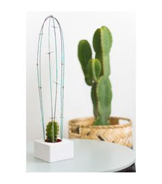 Cactus decorativo de alambre mint GUILLE