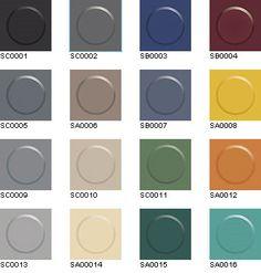 Rubber floor colours