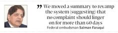 Landmark feat: Federal ombudsman plans tehsil outreach - The Express Tribune