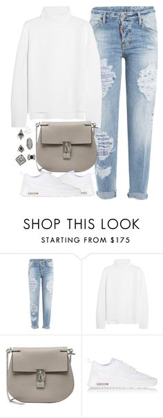 """Untitled #4057"" by london-wanderlust ❤ liked on Polyvore featuring Dsquared2, Vanessa Bruno, Chloé, NIKE and Topshop"