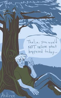 andiree: Luke always kept Thalia updated. Thalia didn't care about the camp gossip, though. She just enjoyed hearing his voice. (color palette challenge #42)