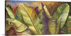 """Oversized Art is massive in both size and style! Add the perfect large piece of art to make a statement in your office space. """"Through the Leaves I"""" gallery wrap canvas by Patricia Pinto, available at GreatBIGCanvas.com."""