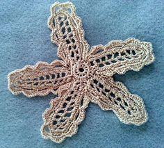Vintage Irish Crochet Star Flower Pattern by Melba Vincent