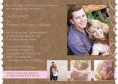 Wedding Invitation: Andrew and Lindsay - SIDE 2 IDEA 2