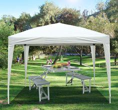 Buy Heavy Duty Pop Up Garden Gazebo Canopy 3X3m (White) |UKgarden-furniture.com