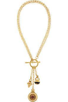 Ben-Amun Gold-plated charm necklace | NET-A-PORTER