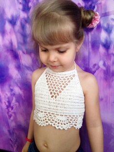 Stone crochet toddler top/ Toddler baby crochet lace bra top/ Open back crochet top/ 2T 3T 4T 5T crochet girl top/ Festival crochet top by ElenaVorobey on Etsy