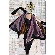 Oliver Gal Vintage Glam Canvas Wall Art ($204) ❤ liked on Polyvore featuring home, home decor and wall art