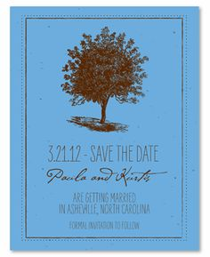 Unique Wedding Save the Date on Plantable Seeded Paper ~ Living Tree by ForeverFiances Weddings. This Tree wedding suite is framed perfectly with a hand drawn artistic representation of an old tree. Made with recycled paper and plantable. Tree Wedding Invitations, Save The Date Invitations, Save The Date Cards, Invites, Unique Wedding Save The Dates, Unique Weddings, Popular Tree, Woodsy Wedding, Wedding Ideas