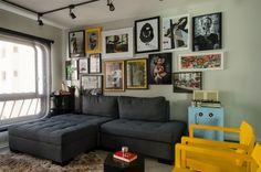 Como mudar sua sala de forma simples mudando apenas uma parede https://www.homify.com.br/livros_de_ideias/2923761