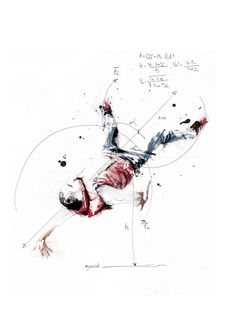 Kinetic Breakdance Illustrations by Florian Nicolle (16 Picture) > Fashion / Lifestyle, Illustrationen, Paintings, Sports, Streetstyle > art, bboys, breakers, kinetic, paintings, watercolor