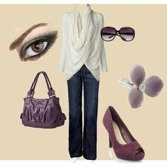 Purple, created by staceedawn on Polyvore