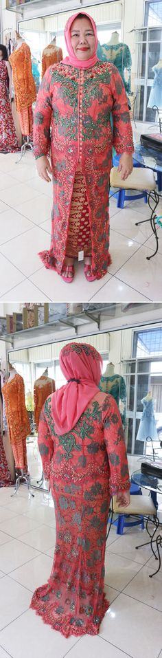 Kebaya mama pengantin (IG @ratukebaya_medan)