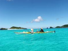 Enjoyed sea kayaking with my kids in Okinawa.
