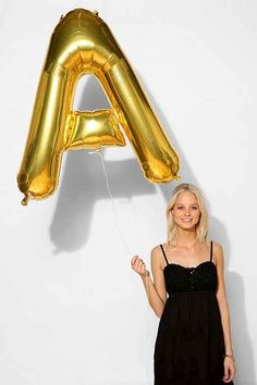 Gold Letter Party Balloon - Urban Outfitters