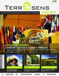 #immobilier EXPERTS DU NEUF a reçu le dernier très intéressant numéro de TERRESENS magazine, le groupe de Géraud Cornillon