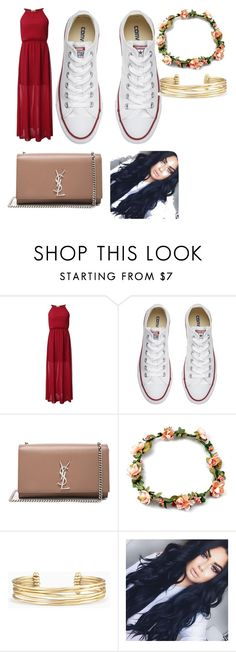 """Untitled #69"" by twilightytb ❤ liked on Polyvore featuring Converse, Yves Saint Laurent and Stella & Dot"