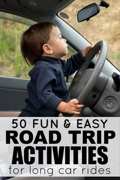 """Looking for road trip ideas for kids that don't involve electronic devices, play doh, stickers, and singing, """"99 Bottles of Beer on the Wall"""" for 10 hours straight while you travel this Thanksgiving and/or Christmas? Then this list of 50 fantastic travel activities for kids is for you!"""