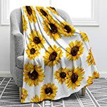 Sunflower Nursery, Sunflower Room, Sunflower House, Sunflower Gifts, Couch Blanket, Flannel Blanket, Throw Pillows, Baby Sofa Chair, Cozy Blankets