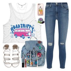 """""""TeesAndTankYou"""" by anarita11 ❤ liked on Polyvore featuring Frame Denim, Topshop, Casetify and Maybelline"""
