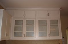 kitchen cabinet doors with glass inserts | The covered porch entry had been removed after 1978. The porch has now ...
