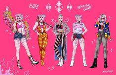 harley quinn e coringa / Batman Harley Quinn Drawing, Harley Quinn Cosplay, Joker And Harley Quinn, Arlequina Margot Robbie, Margot Robbie Harley Quinn, Hearly Quinn, Gotham Girls, Gotham Batman, Batman Art
