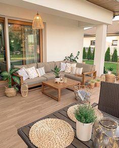 Outdoor Spaces, Outdoor Living, Outdoor Decor, Backyard Patio Designs, Home Decor Inspiration, Decor Ideas, Room Ideas, Outdoor Furniture Sets, Interior Design