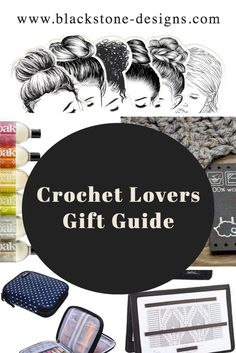 Crochet Lovers Gift Guide with over 200 items! Hooks, Stitch Markers, T-shirts and more! #crochet #crochetlover #giftguide #christmasgifts #giftideas #giftsforher #giftsforher