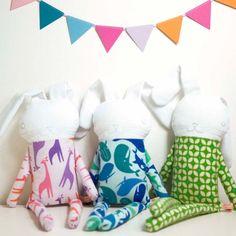 pinknounou.com - doudou soft toy rabbit in pyjama