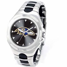 Game Time NFL Men's Baltimore Ravens Victory Series Watch, Silver
