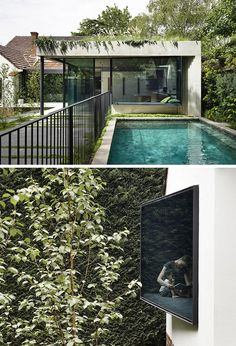 Wedge-Shaped Window Seats Offer A Place To Sit And Relax In This House Landscape Design, Garden Design, House Design, Australian Homes, Reading Room, Window Design, Design Firms, Architecture Design, Interior Decorating