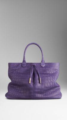 Bow Detail Alligator Tote Bag