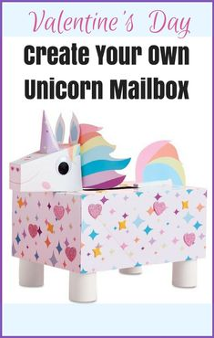 This little unicorn mailbox is so cute! Great craft idea to do with the kiddos for Valentine's!