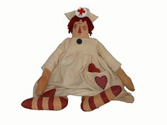 Craft Outlet Nurse Nightingale Doll, 16-Inch