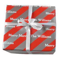 Peppermint Ice Personalized Gift Wrap