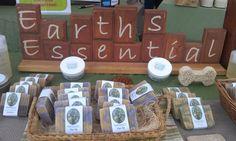 Natural soap display.