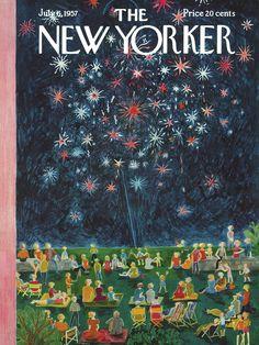 The New Yorker - Saturday, July 6, 1957 - Issue # 1690 - Vol. 33 - N° 20 - Cover by : Ilonka Karasz