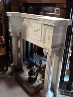 Why would you buy a new mantel when the old ones have so much more character?