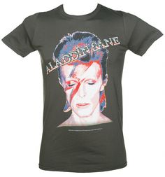 Pay homage to one of Britain's greatest musicians ever, David Bowie, in this classic Aladdin Sane tee which features the original 1973 album artwork. xoxo #DavidBowie #Bowie #AladdinSane