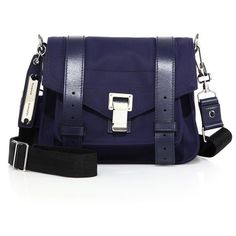 Proenza Schouler PS1 Pouch Small Nylon Crossbody Bag ($1,025) ❤ liked on Polyvore featuring bags, handbags, shoulder bags, apparel & accessories, indigo blue, nylon crossbody, nylon pouch, nylon crossbody handbags, nylon purse and blue crossbody
