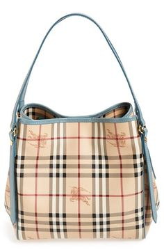 Perfect Spring/Summer Bag!!! Burberry 'Haymarket Check - Small Canterbury' Tote available at #Nordstrom