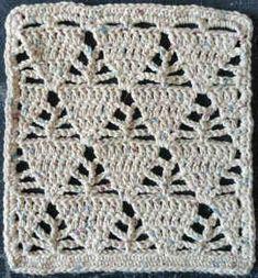 "Best Free Crochet - Maggie's Crochet Free Pattern: Triangles Dishcloth by Wendi Cusins. 9"" wide x 10"" long approx."