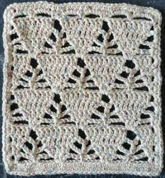 Triangles Crochet Dishcloth Pattern