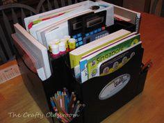 homeschool organization ideas!