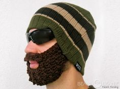 The Olive Stripe Official Authentic Beard Beanie!