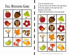 These printable fall games for toddlers will keep your little ones busy and having fun! Included are a Fall matching game, Fall Bingo, and Fall I-Spy!