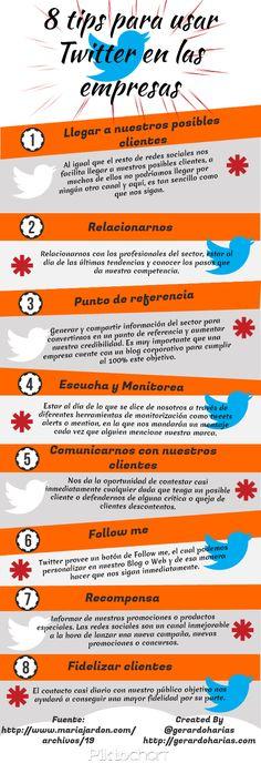 8 Tips para usar Twitter en las empresas - Infografía